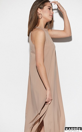 Платье Алиот, Темно-бежевый - фото 3