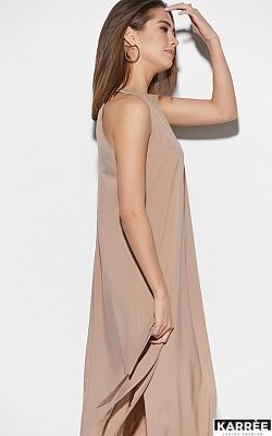 Платье Алиот, Темно-бежевый