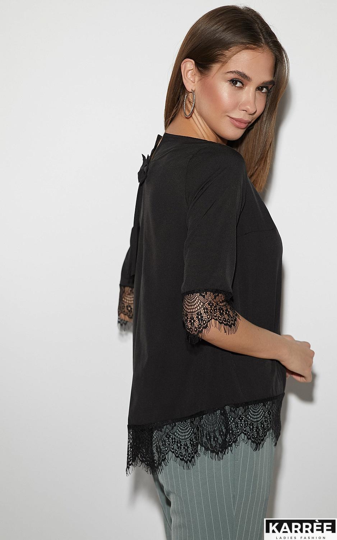 Блуза Мэри, Черный - фото 3