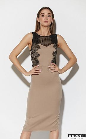 Платье Ким, Темно-бежевый - фото 2