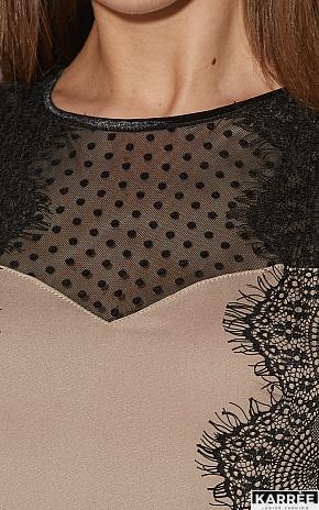 Платье Ким, Темно-бежевый - фото 6