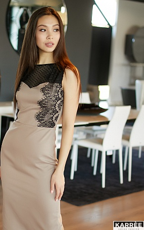 Платье Ким, Темно-бежевый - фото 1