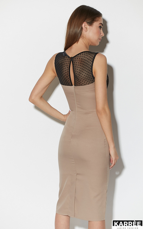 Платье Ким, Темно-бежевый - фото 4