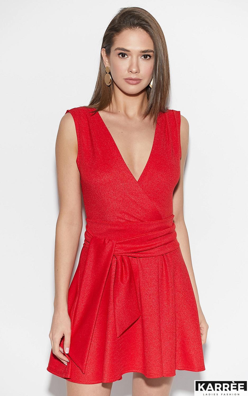 Платье Лия, Красный - фото 2