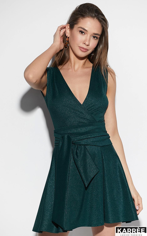 Платье Лия, Темно-зеленый - фото 2