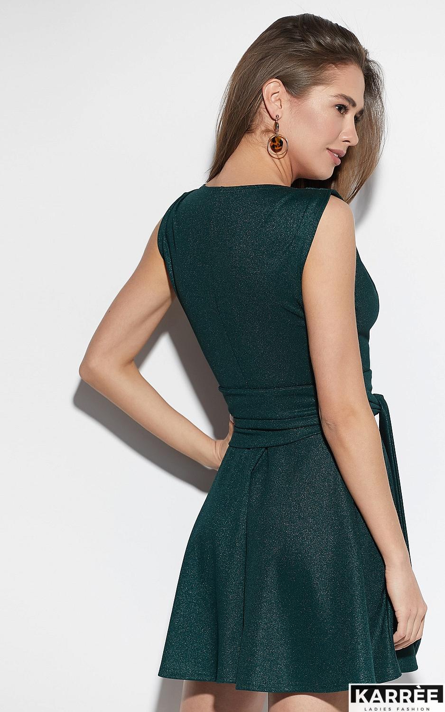 Платье Лия, Темно-зеленый - фото 3