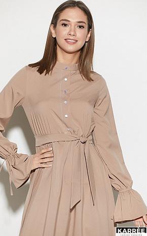 Платье Азия, Темно-бежевый - фото 3