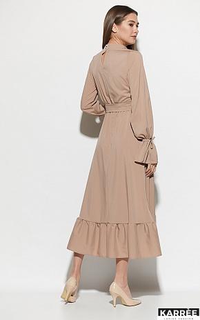 Платье Азия, Темно-бежевый - фото 4