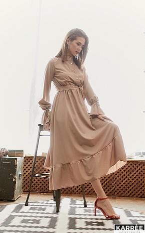 Платье Азия, Темно-бежевый - фото 1