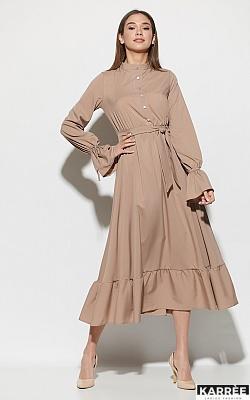 Платье Азия, Темно-бежевый
