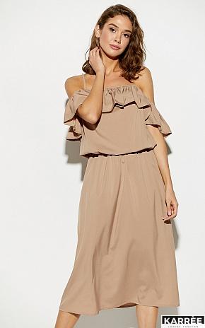 Платье Мори, Темно-бежевый - фото 2