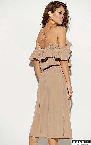 Платье Мори, Темно-бежевый - фото 3