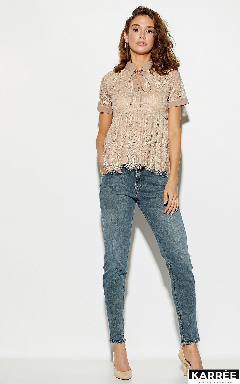 Блуза Мендес, Бежевый - фото 3