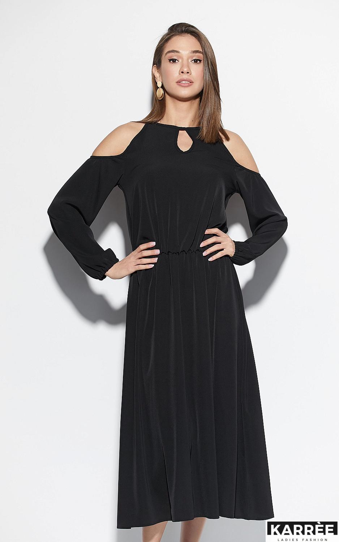 Платье Трофи, Черный - фото 4