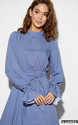 Платье Миндаль, Синий