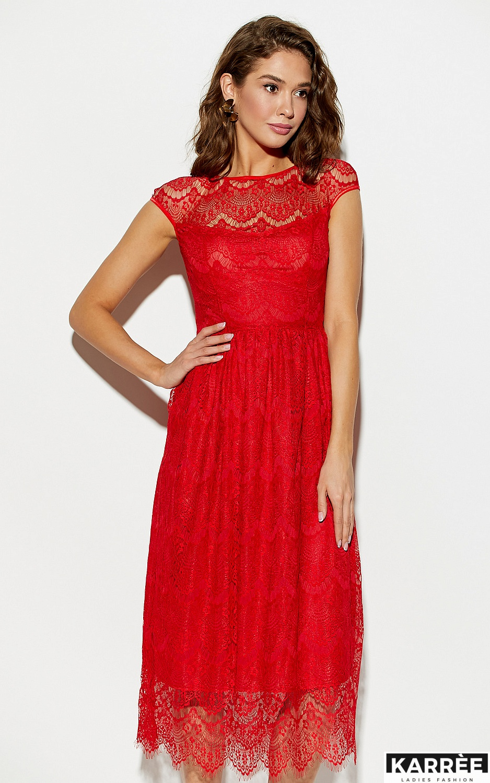 Платье Жаклин, Красный - фото 2