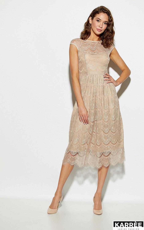 Платье Жаклин, Бежевый - фото 3