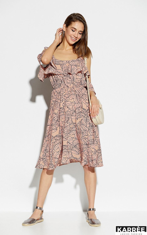 Платье Романтика, Пудровый - фото 4