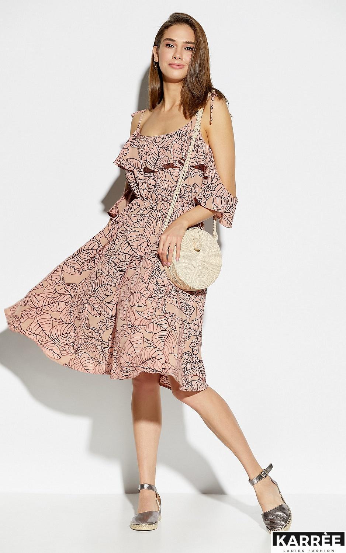 Платье Романтика, Пудровый - фото 1