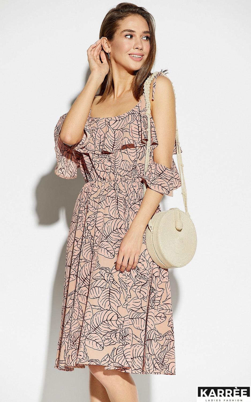 Платье Романтика, Пудровый - фото 2