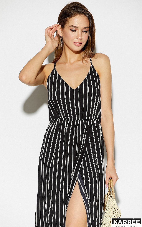 Платье Санторини, Черный - фото 3