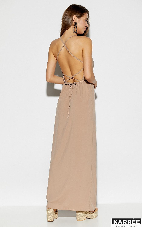 Платье Монреаль, Темно-бежевый - фото 3