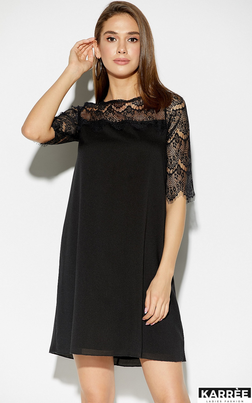 Платье Скай, Черный - фото 2