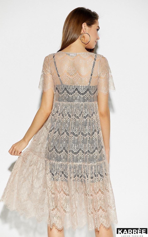 Платье Мексика, Бежевый - фото 3