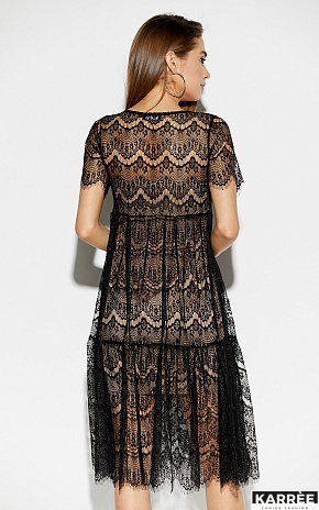 Платье Мексика, Черный - фото 2