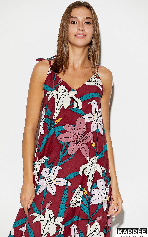 Платье Лилиан, Марсала - фото 2