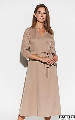 Платье Тайра, Темно-бежевый
