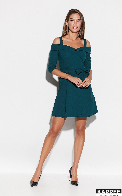 Платье Алия, Темно-зеленый - фото 1