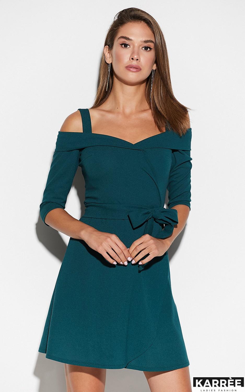 Платье Алия, Темно-зеленый - фото 2