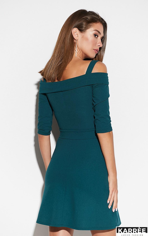 Платье Алия, Темно-зеленый - фото 3