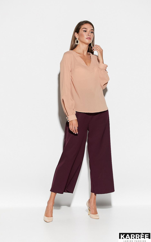 Блуза Зетта, Бежевый - фото 2