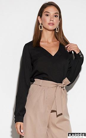 Блуза Зетта, Черный - фото 2