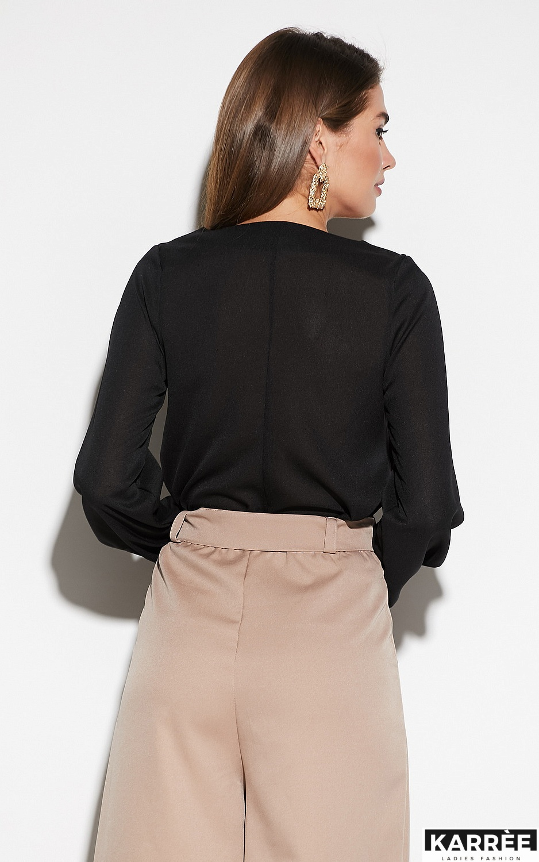 Блуза Зетта, Черный - фото 3