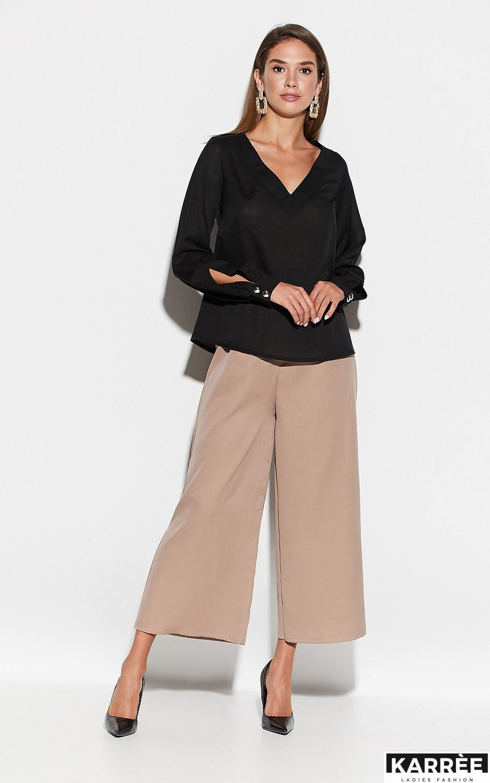 Блуза Зетта, Черный - фото 4