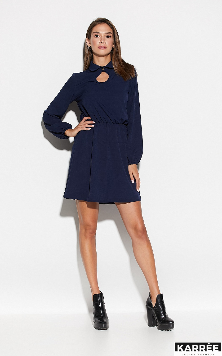 Платье Мирта, Темно-синий - фото 1