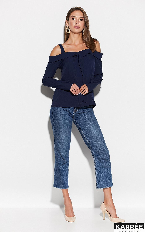 Блуза Кори, Темно-синий - фото 3