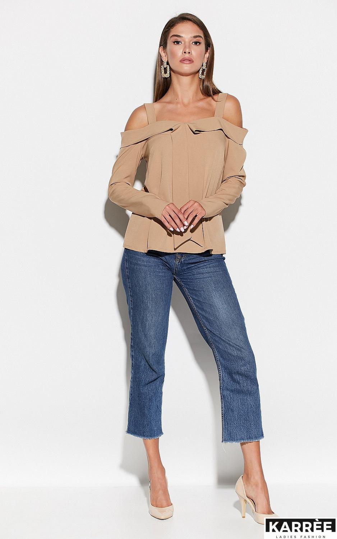 Блуза Кори, Бежевый - фото 3