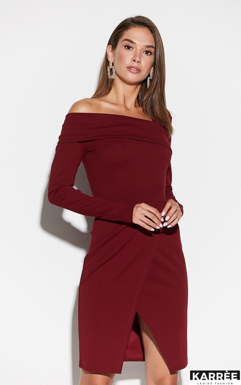 Платье Космо, Марсала - фото 2