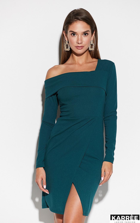Платье Космо, Темно-зеленый - фото 2