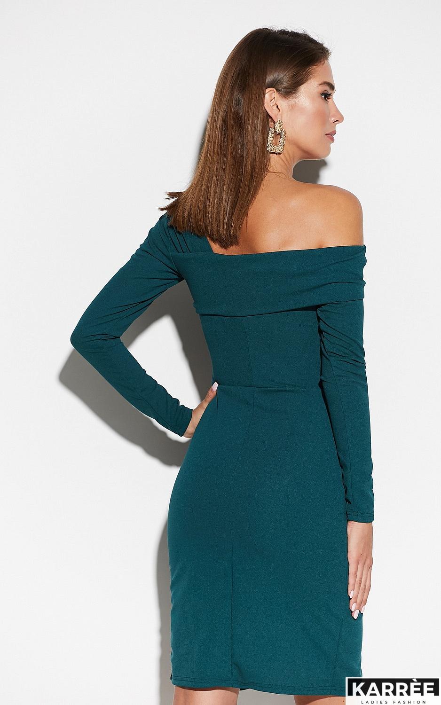Платье Космо, Темно-зеленый - фото 3