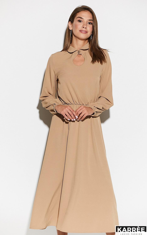Платье Юста, Бежевый - фото 2