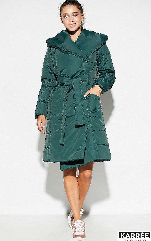 Пальто Сантино, Темно-зеленый - фото 2