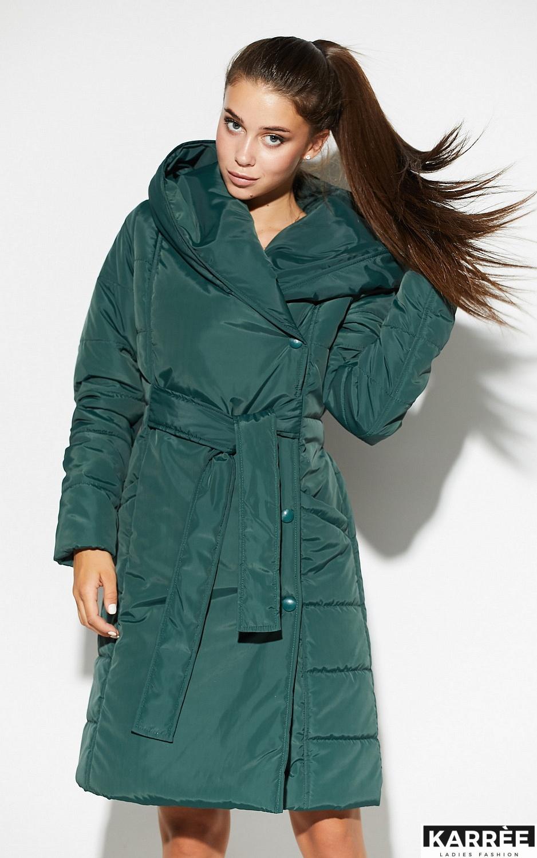 Пальто Сантино, Темно-зеленый - фото 4