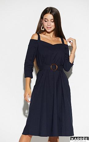 Платье Полли, Темно-синий - фото 1
