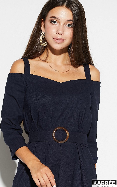 Платье Полли, Темно-синий - фото 2