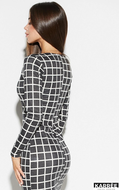 Платье Донна, Темно-серый - фото 4